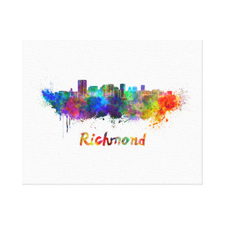 Richmond skyline in watercolor canvas print