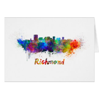 Richmond skyline in watercolor card