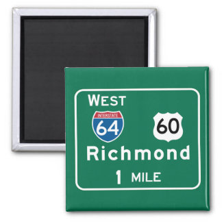 Richmond, VA Road Sign Magnet