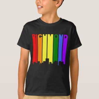 Richmond Virginia Gay Pride Rainbow Skyline T-Shirt