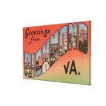 Richmond, Virginia - Large Letter Scenes 2 Stretched Canvas Prints