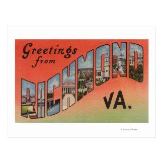 Richmond, Virginia - Large Letter Scenes 3 Postcard