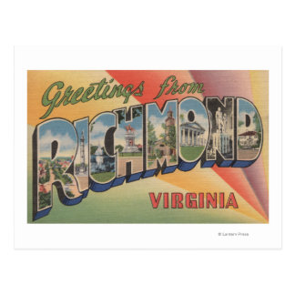 Richmond, Virginia - Large Letter Scenes Postcard