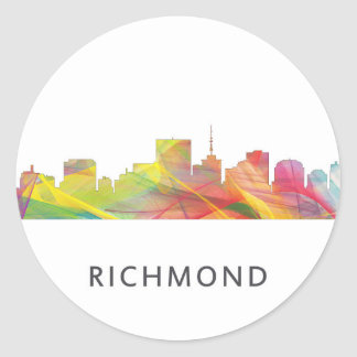 RICHMOND VIRGINIA SKYLINE WB1 - CLASSIC ROUND STICKER