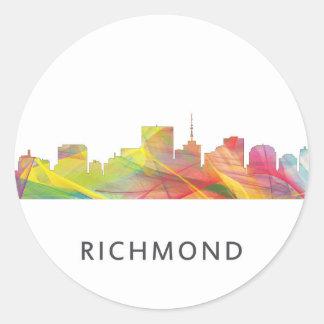 RICHMOND VIRGINIA SKYLINE WB1 - ROUND STICKER