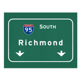 Richmond Virginia va Interstate Highway Freeway : Postcard