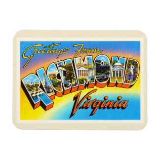 Richmond Virginia VA Old Vintage Travel Postcard- Magnet