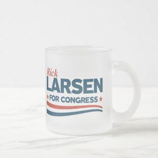 Rick Larsen Frosted Glass Coffee Mug