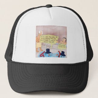 Rick London Comic Snowman Funny Gifts Trucker Hat