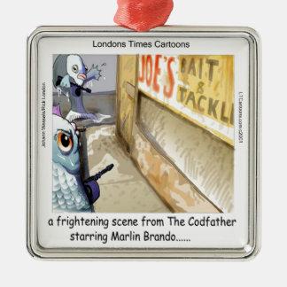 Rick London Fish Mafia Funny Gifts Metal Ornament