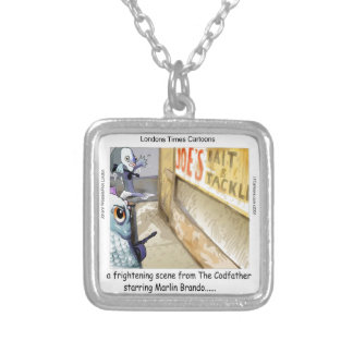 Rick London Fish Mafia Funny Gifts Silver Plated Necklace