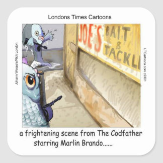 Rick London Fish Mafia Funny Gifts Square Sticker