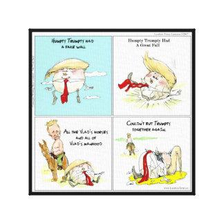 "Rick London ""Trumpty Dumpty"" Funny Canvas Print"
