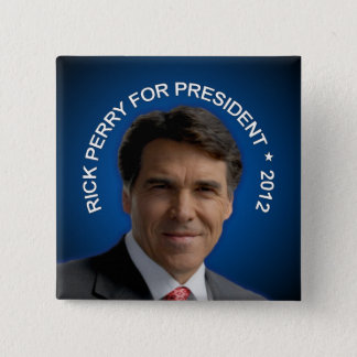 Rick Perry 2012 2 Inch Square Button