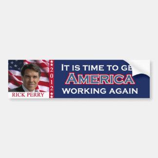 Rick Perry 2012 for president bumpersticker Bumper Sticker