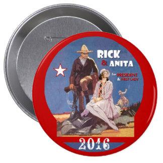 Rick Perry & Anita 2016 4 Inch Round Button