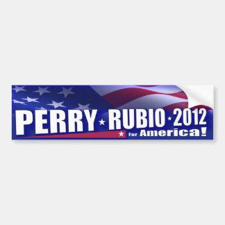 Rick Perry Marco Rubio 2012 GOP Bumper Sticker