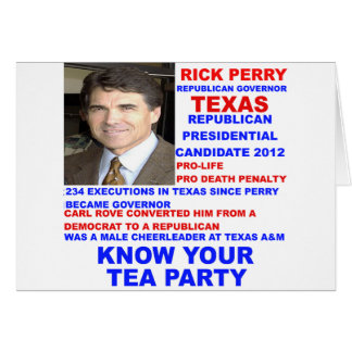 Rick Perry, Tea Party Governor of Texas Card