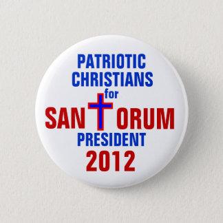RICK SANTORUM 2012 BUTTON PATRIOTIC CHRISTIANS