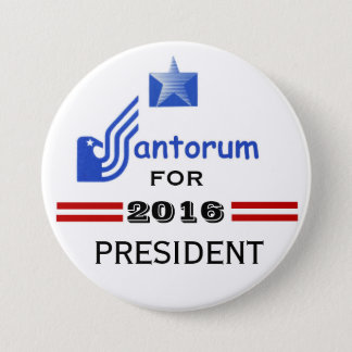 Rick Santorum 2016 3 Inch Round Button