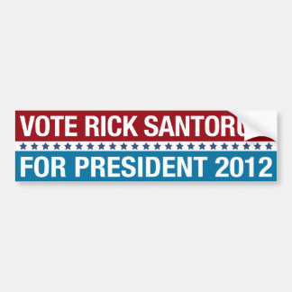 RICK SANTORUM | BUMPER STICKER