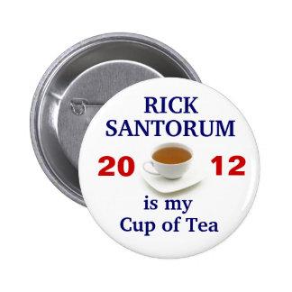Rick Santorum is my cup of tea 2 Inch Round Button
