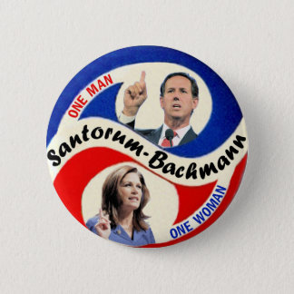 Rick Santorum / Michele Bachmann 2 Inch Round Button
