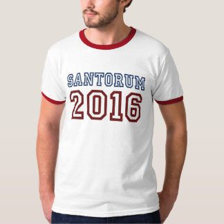 Rick Santorum President 2016 Athletic Font T-Shirt