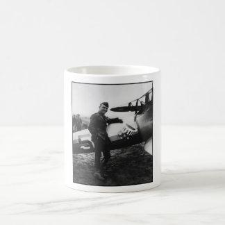 Rickenbacker Posing With His Plane Coffee Mug