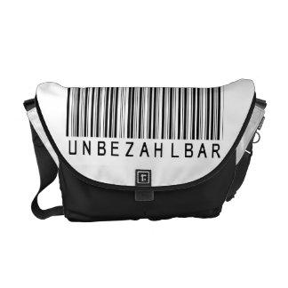 "Rickshaw bag ""bar code black PRICELESS "" Courier Bags"