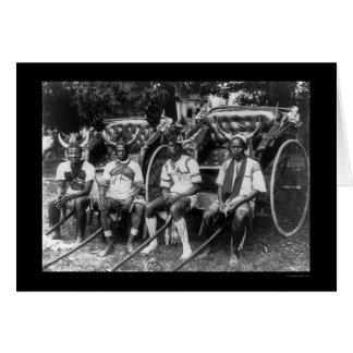 Rickshaw Boys Durban, South Africa 1897 Card