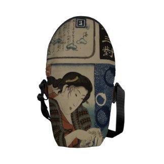 Rickshaw Messenger Bag - Japanese Geisha