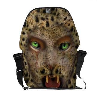 Rickshaw Messenger Bag,leopard Woman Courier Bags