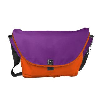 Rickshaw Messenger Bag, Mandarin, Purple Messenger Bags
