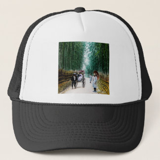 Rickshaw on the Road to Kyoto Japan Vintage Trucker Hat