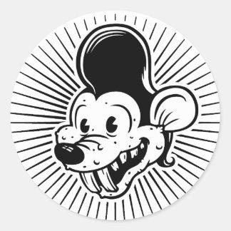 Ricky Rodent Round Sticker