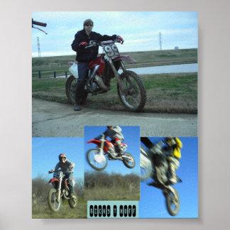 Ricky T Motocross Poster