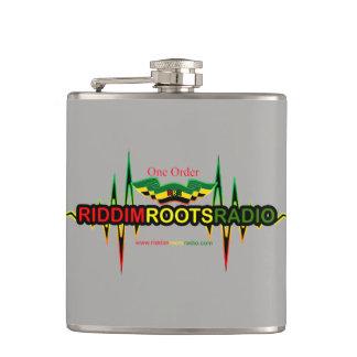 Riddim Roots Radio Grey Vinyl Wrapped Flask 177 ml