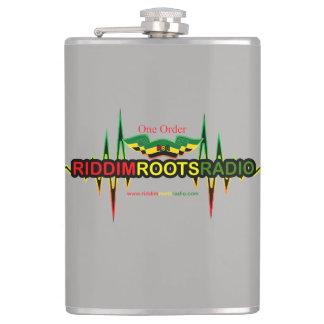 Riddim Roots Radio Grey Vinyl Wrapped Flask 237ml