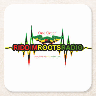 Riddim Roots Radio Square Coaster