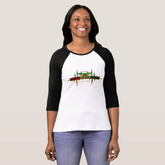 Riddim Roots Radio Womens 3/4 Sleeve Raglan Top