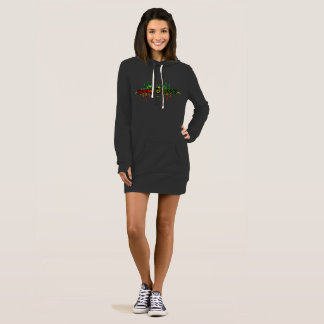 Riddim Roots Radio Women's Black Hoodie Tunic