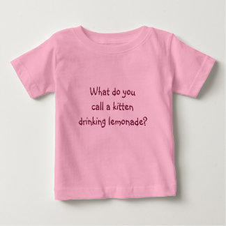 Riddle Me T's-What do you call a kitten Baby T-Shirt