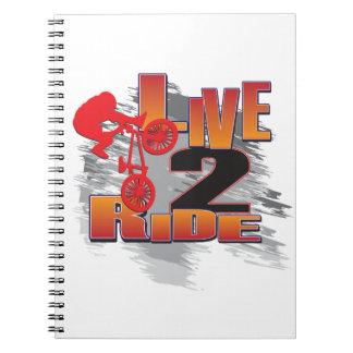 Ride 2 Live BMX Biker Notebooks