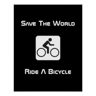 Ride A Bicycle Negative Poster