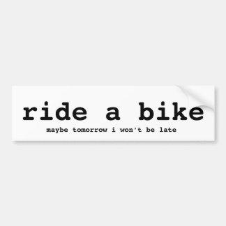 ride a bike 1 bumper sticker