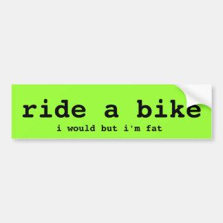 ride a bike 2 bumper sticker