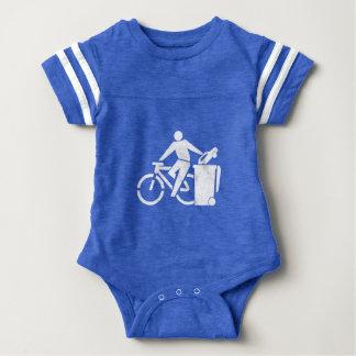 Ride A Bike Not A Car Baby Bodysuit
