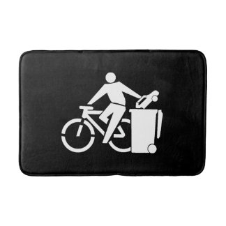 Ride A Bike Not A Car Bath Mat