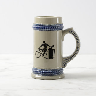 Ride A Bike Not A Car Beer Stein